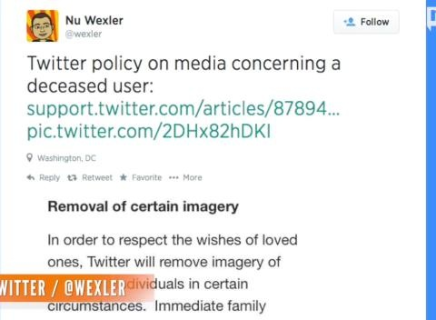 News video: Families Can Now Ask Twitter To Remove Photos Of Deceased