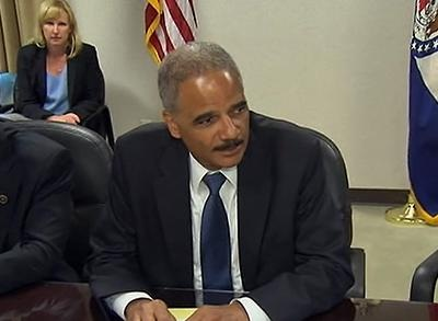 News video: Holder Hopes to Bring Calm to Ferguson